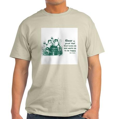 Beer quote by Benjamin Franklin Ash Grey T-Shirt