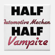 Half Automotive Mechanic Half Vampire Tile Coaster