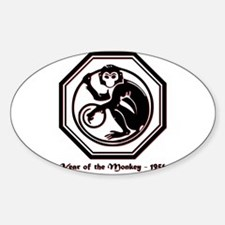Year of the Monkey - 1956 Sticker (Oval)