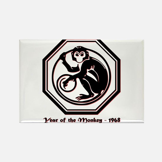Year of the Monkey - 1968 Rectangle Magnet (10 pac
