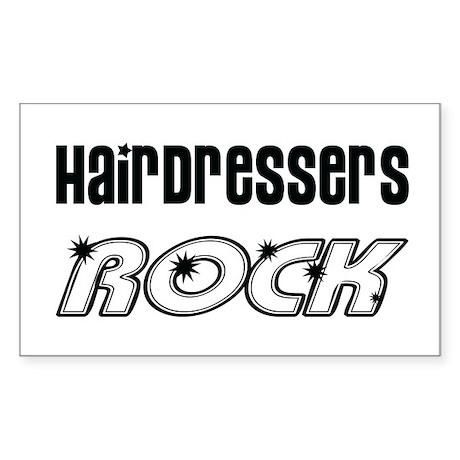 Hairdressers Rock sticker