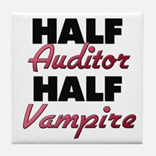 Half Auditor Half Vampire Tile Coaster
