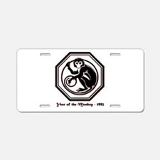 Year of the Monkey - 1992 Aluminum License Plate