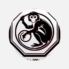 """Year of the Monkey - 1992 3.5"""" Button"""