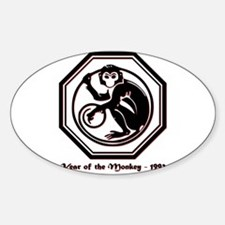 Year of the Monkey - 1992 Sticker (Oval)