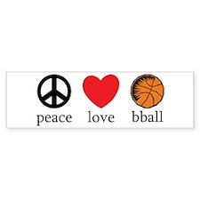Peace Love bball Bumper Bumper Sticker