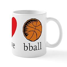 Peace Love bball Mug