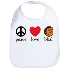 Peace Love bball Bib