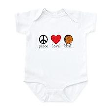 Peace Love bball Infant Bodysuit