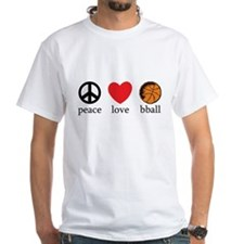 Peace Love bball Shirt
