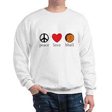 Peace Love bball Sweatshirt