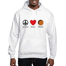 Peace Love bball Hoodie