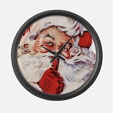 Santa002 Large Wall Clock