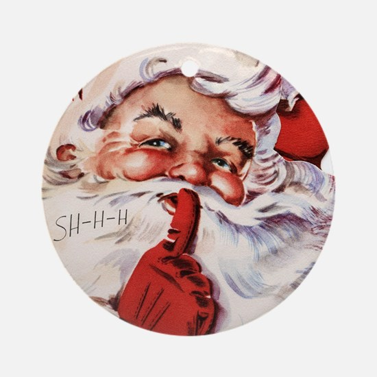 Santa002 Round Ornament