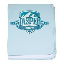 Jasper Alberta Ski Resort baby blanket