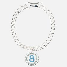 Number 8 Blue Yellow Bro Bracelet
