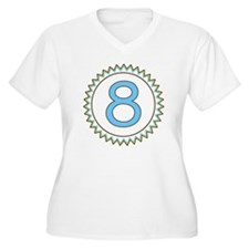 Number 8 Blue Yel T-Shirt