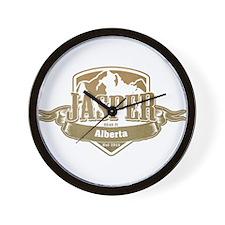 Jasper Alberta Ski Resort 4 Wall Clock
