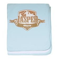 Jasper Alberta Ski Resort 4 baby blanket