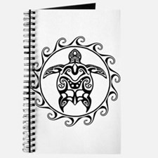 Black Tribal Turtle Sun Journal