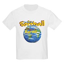 Softball Earth Kids T-Shirt