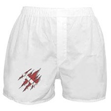 Dive Flag: Torn Diver Boxer Shorts