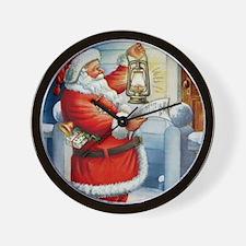 Santa001a Wall Clock