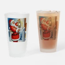 Santa001a Drinking Glass
