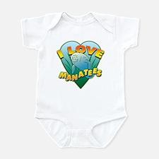 I Love Manatees Infant Bodysuit