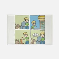 Cat Cartoon Rectangle Magnet (10 pack)
