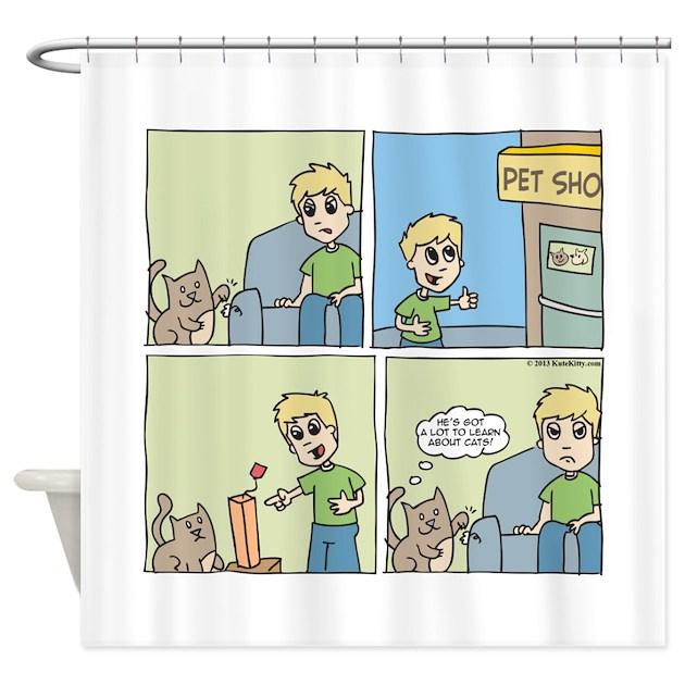 Cat Cartoon Shower Curtain By Shirtsoup