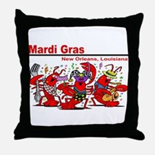 Dancing Lobsters Throw Pillow