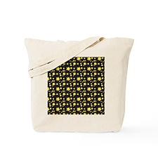 Dark night starry skies pattern Tote Bag