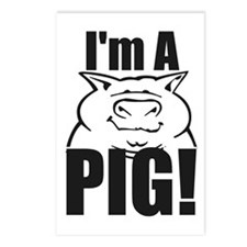 I'm a PIG! Postcards (Package of 8)