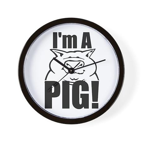 I'm a PIG! Wall Clock