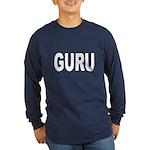 Guru (Front) Long Sleeve Dark T-Shirt
