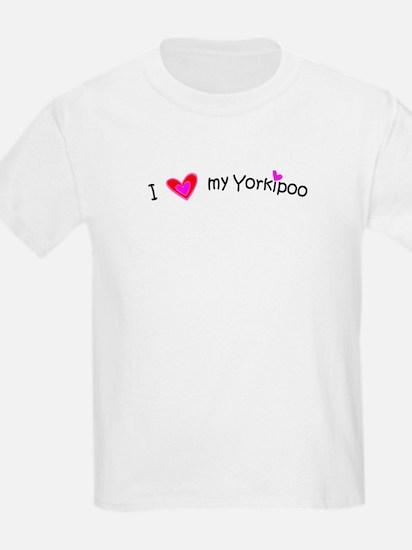 Yorkipoo - MyPetDoodles.com Kids T-Shirt