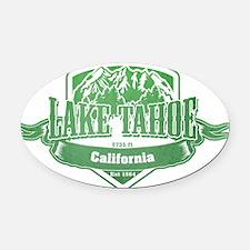 Lake Tahoe California Ski Resort 3 Oval Car Magnet