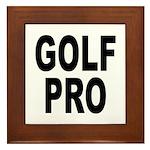 Golf Pro Framed Tile