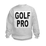 Golf Pro (Front) Kids Sweatshirt