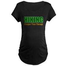 Hiking Cheaper Than Therapy Maternity T-Shirt