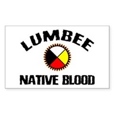 Lumbee Native Blood Rectangle Decal