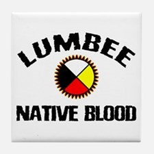 Lumbee Native Blood Tile Coaster