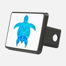 Blue Tribal Turtle Hitch Cover