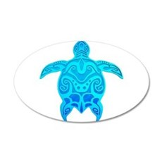 Blue Tribal Turtle Wall Decal