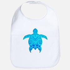 Blue Tribal Turtle Bib