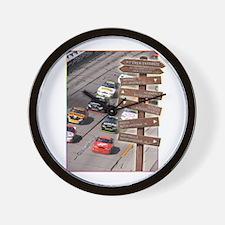 SC-1 Stock Car Racing Wall Clock