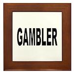 Gambler Framed Tile