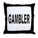 Gambler Throw Pillow