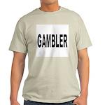 Gambler (Front) Ash Grey T-Shirt